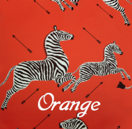 Scalamandre: Zebras Wallpaper SC 0011 WP81388M Orange