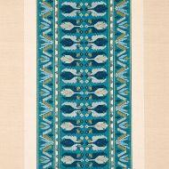 Schumacher: Sandor Stripe Embroidery 79832 Peacock