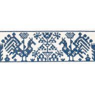 Schumacher: Tarpan Embroidery Tape 80000 Navy