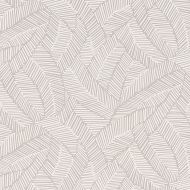 5007531 Abstract Leaf Wallpaper in Dove by Schumacher