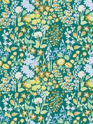 Grey Watkins for Scalamandre: Nymph Floral GW 0002 16630 Emerald Multi