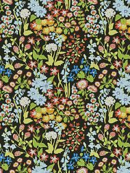 Grey Watkins for Scalamandre: Nymph Floral GW 0003 16630 Black Multi