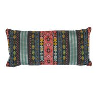 "Schumacher: Cosima Embroidery 24"" Pillow SO7968118 Carbon Multi"